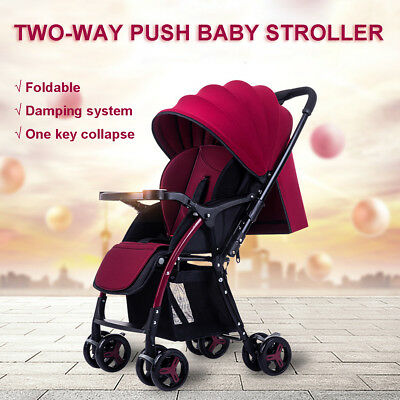 Compact Lightweight Baby Stroller Prams Easy Fold Travel Carry on Plane