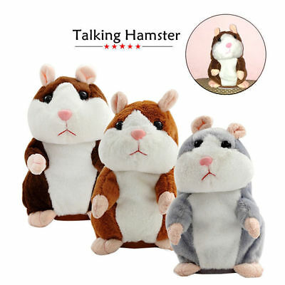 Cute Talking Hamster Nod Mouse Record Chat Mimicry Child Plush Toy Kids Gift UK