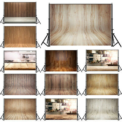 AU Vintage Plank Wooden Studio Wall Floor Photography Backdrop Photo Screen Prop