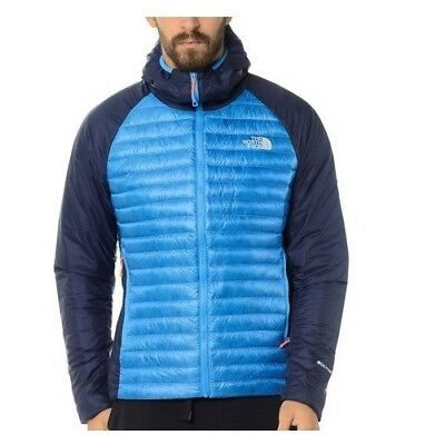 Piumino The North Face Verto Prima Hoodie Size S Blue Giacca Jacket Uomo New d22ecd5514e3