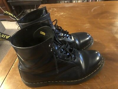 DR. MARTENS 1460 8 Eye Leather Boots Smooth   Dark Blue Size 13 ... a9b6a95f13b5