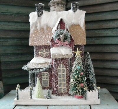 CODY FOSTER Large Putz ~ENCHANTED FOREST HOMESTEAD~ Brand New!