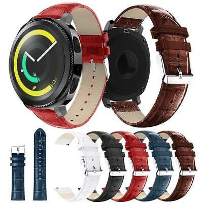 For Samsung Gear S3 Frontier / Classic Strap Crocodile Leather Watch Band