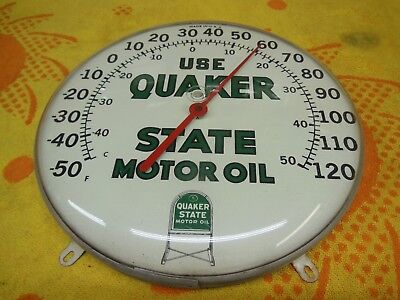 Vintage Quaker State Motor Oil Thermometer 1960's