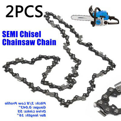 16 Chainsaw Saw Chain Blade 3/8 Pitch .043 Gauge 55DL For Stihl MS251 MS251C
