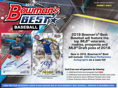 2018 Bowman's Best Baseball Hobby Random Player 1 Box Break - 4 Autos