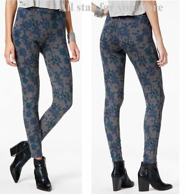 189f3ceff02 HUE - Ladies Original Denim Stretch Leggings in Mod Floral