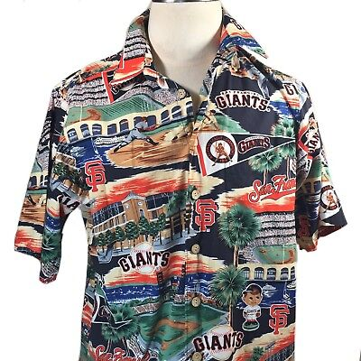 e572e857 Reyn Spooner Exclusive Mens San Francisco SF Giants MLB Hawaiian Shirt Size  L