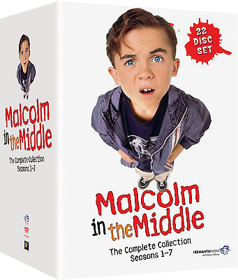 Malcolm In The Middle . Complete Series Season 1 2 3 4 5 6 7 Mittendrin . 22 DVD
