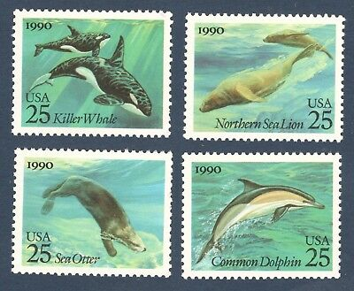 2508-11 Sea Creatures Set Of 4 Mint/nh Free Shipping (A-320)