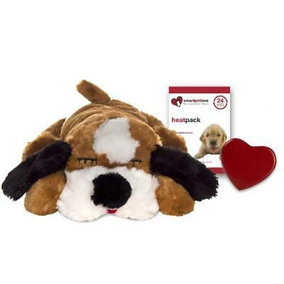 NEW Snuggle Puppy Behavioral Aid Toy in Brown and White by SmartPetLove