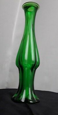 Vintage Avon Emerald Green Glass Bud Vase