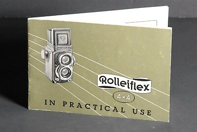 Rollei Rolleiflex 4x4 In Practical Use 1957 Camera Instruction Manual #2