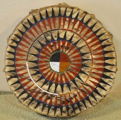 Medicine Wheel / Native American Drum Painted by Lakota Artist Sonja Holy Eagle