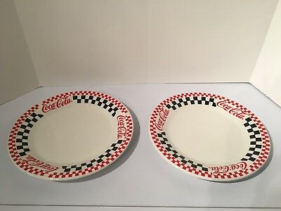 Coca-Cola checkerboard plates by Gibson 1998