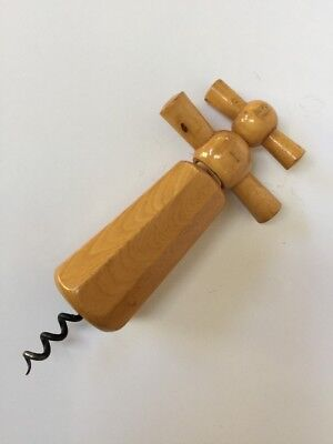 Vintage Corkscrew Wood European $20 Free Post