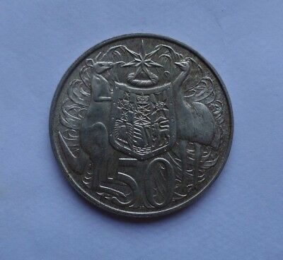 1966 AUSTRALIAN Round Fifty 50 CENT Coin 80% Silver