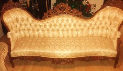 1860 Rosswood Antique Couch 7ft 6 inchs Length New York Firm
