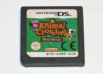 Animal Crossing: Wild World Nintendo DS Game Card NDS Lite DSi 2DS 3DS XL b F01