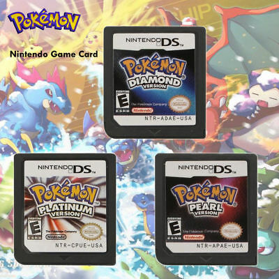 Pokemon Platinum Diamond Pearl Game Cards Nintendo 3DS NDSI NDS Lite a F01