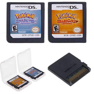 Pokemon HeartGold SoulSilver Game Cards Nintendo 3DS NDSI NDS Lite b F01