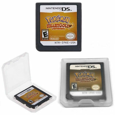 Pokemon HeartGold SoulSilver Game Cards Nintendo 3DS NDSI NDS Lite c F01