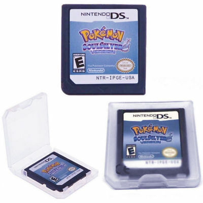 Pokemon HeartGold SoulSilver Game Cards Nintendo 3DS NDSI NDS Lite d F01