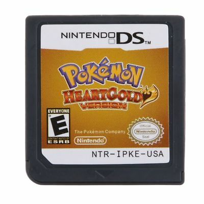 Pokemon HeartGold SoulSilver Game Cards Nintendo 3DS NDSI NDS Lite e F01