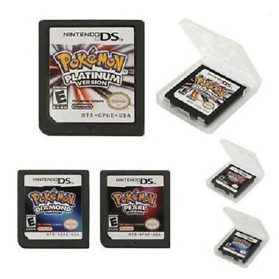 Pokemon Platinum Diamond Pearl Game Cards Nintendo 3DS NDSI NDS Lite b F01