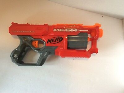 NERF N-Strike Blaster Foam Dart Gun Elite Mega CycloneShock Shoots 90 feet Toy