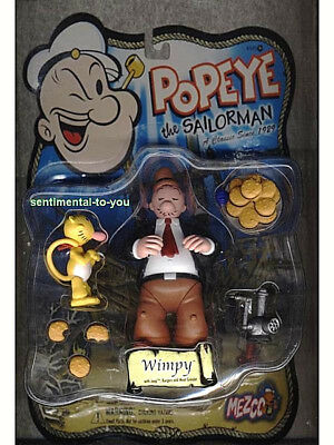 Mezco 2001 Popeye Sailorman WIMPY w/ JEEP Burger/Hamberger MEAT GRINDER Figure