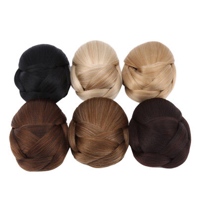 Charm Comb Clip In Curly Hair Piece Chignon Updo Hairpiece Extension Hair Bun B