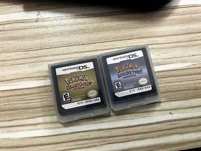 Pokemon HeartGold SoulSilver Game Cards Nintendo 3DS NDSI NDS Lite g F01