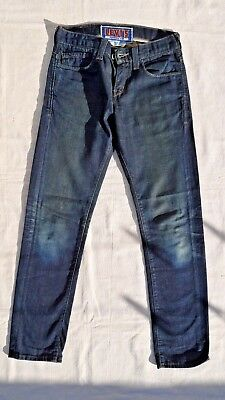 LEVIS 511 Men's Jeans Skinny Slim Fit Distressed Dark Wash Navy Blue 28 30