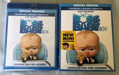 The Boss Baby Special Edition Blu-Ray 3D+Blu-Ray+Digital Hd Slipcover