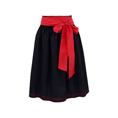 Costume Skirt Dirndl Set Ladies Dirndlset Traditional Skirt Black Red Long Bix