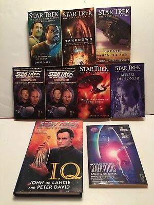 Star Trek The Next Generation Book Series Lot Of 9