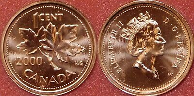 Proof Like 2000W Canada 1 Cent From Mint's Set