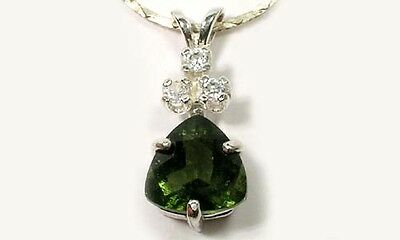 Moldavite Meteor Pendant 2ct Antique 19thC Czech Sword Excaliber King Arthur Gem