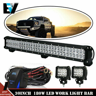30inch Offroad Led Light Bar Combo Work Offroad Fog Driving Jeep SUV ATVs 20