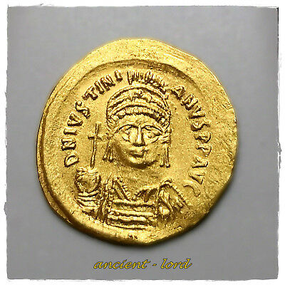 ** JUSTINIAN I **Gold-Solidus Constantinople Mint 527-538 AD !!!