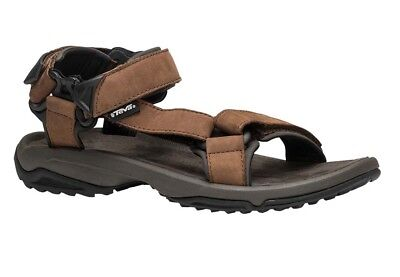 TEVA TERRA FI Lite Leather Mens Brown Velcro Walking Sandals Sports ... e0c276fa7ee