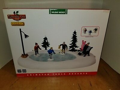 Lemax Coventry Cove Holiday Hockey Brand New in Box