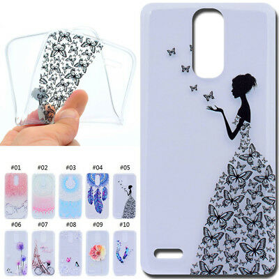 For LG HTC Gel Rubber Case Cover Pattern TPU Cute Shockproof Soft Silicone Skin