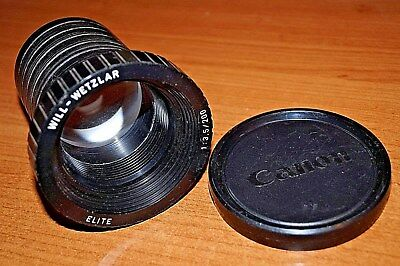 WILL - WETZLAR - 'ELITE' 1:3.5 /200mm PROJECTOR LENS WITH CANON LENS CAP