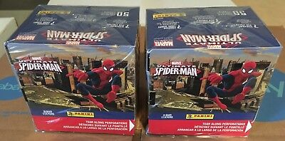 Ultimate Spider-Man Factory Sealed QUANTITY 2 / 50 Pack Box 2014 Panini Stickers