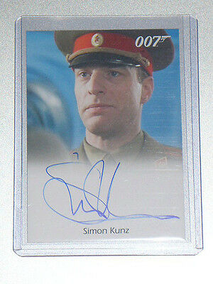 James Bond Artifacts & Relics Goldeneye Simon Kunz autograph auto card 2013