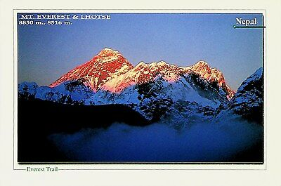 Nepal Mt. Everest Lhotse Sunset View Signed Expedition Card - Uncommon