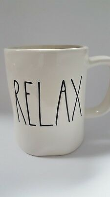 "New ~ Rae Dunn Artisan Collection Coffee Tea Gift Mug by Magenta - ""Relax"""