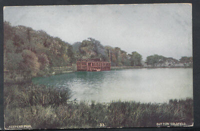 Warwickshire Postcard - Keepers Pool, Sutton Coldfield    T2646